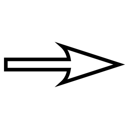 proceed: Sharp Arrow Right vector icon. Style is stroke icon symbol, intensive red and black color, white background.