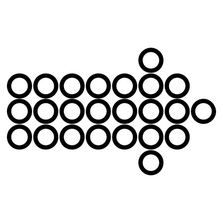 redirect: Circle Arrow Right vector icon. Style is stroke icon symbol, black color, white background.