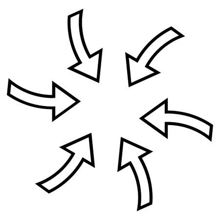 cyclone: Cyclone Arrows vector icon. Style is contour icon symbol, black color, white background.