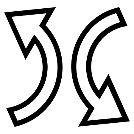 replace: Replace Arrows vector icon. Style is outline icon symbol, black color, white background.