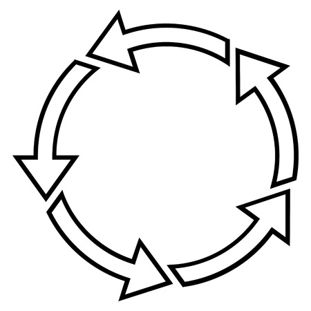 counterclockwise: Rotation Ccw vector icon. Style is contour icon symbol, black color, white background.