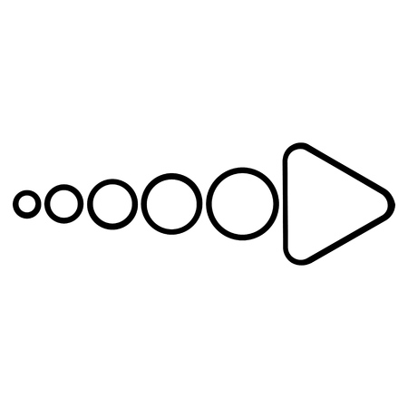 propel: Send Arrow Right vector icon. Style is stroke icon symbol, black color, white background.