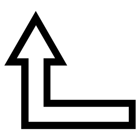 turn up: Turn Up vector icon. Style is thin line icon symbol, black color, white background.