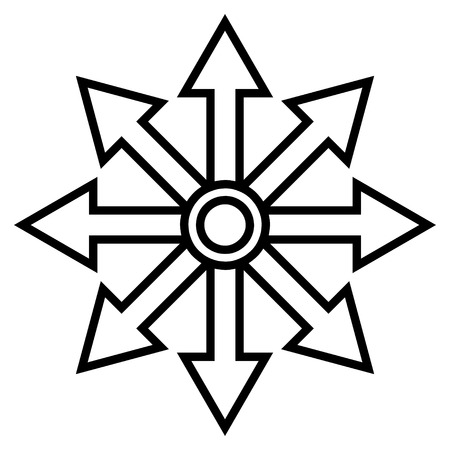 expand: Expand Arrows vector icon. Style is outline icon symbol, black color, white background.