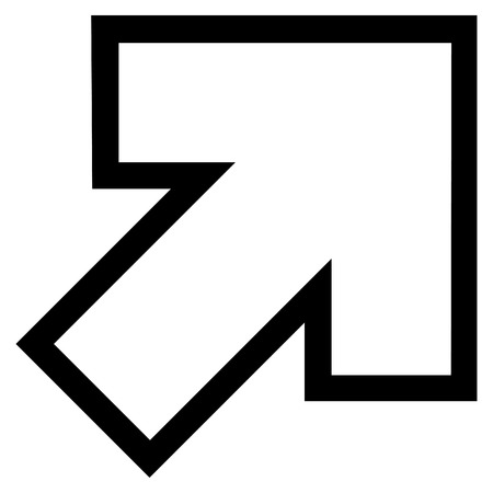inclination: Arrow Right Up vector icon. Style is thin line icon symbol, black color, white background.