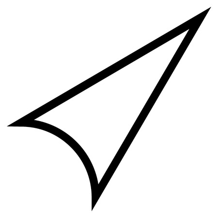 arrowhead: Arrowhead Right Up vector icon. Style is outline icon symbol, black color, white background.