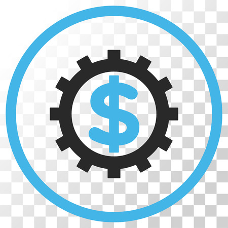 config: Financial Industry vector icon. Image style is a flat blue and gray colors pictogram symbol.