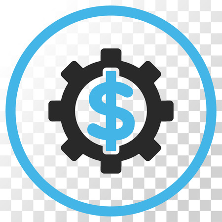 Financial Options vector icon. Image style is a flat blue and gray colors icon symbol.