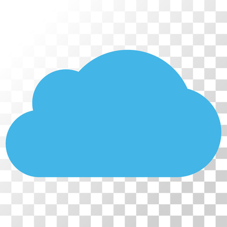 Cloud vector icon. Image style is a flat blue and gray colors pictograph symbol.