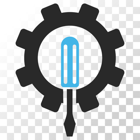 config: Engineering vector icon. Image style is a flat blue and gray colors icon symbol.