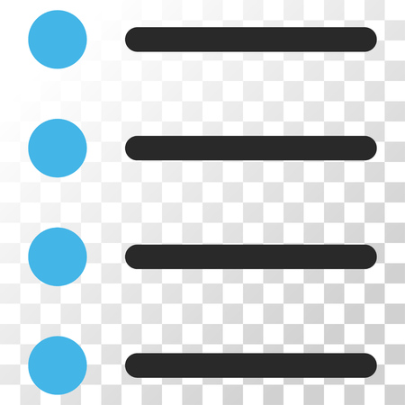 numerate: Items vector icon. Image style is a flat blue and gray colors pictogram symbol. Illustration