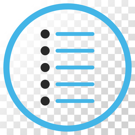 numerate: Items vector icon. Image style is a flat blue and gray colors icon symbol. Illustration