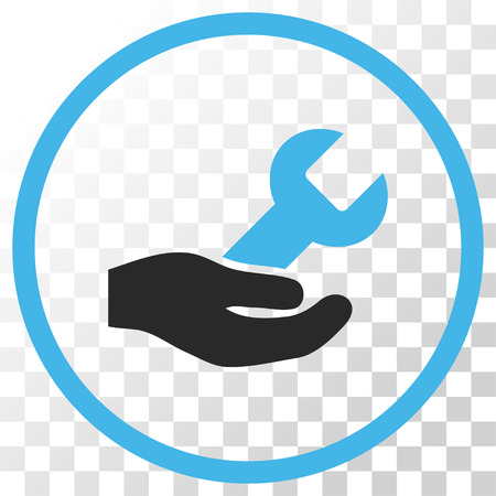 Repair Service vector icon. Image style is a flat blue and gray colors pictogram symbol. Stock Illustratie