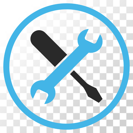 Tuning vector icon. Image style is a flat blue and gray colors iconic symbol.