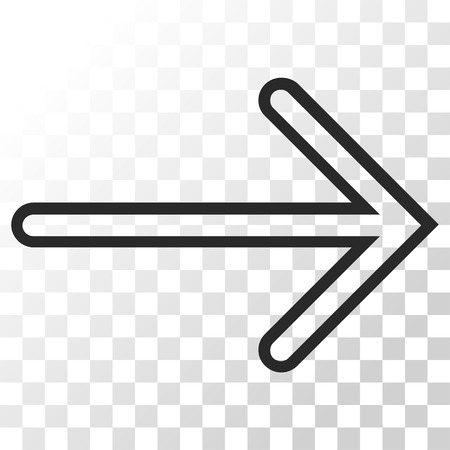 Arrow Right vector icon. Image style is a flat gray color iconic symbol.