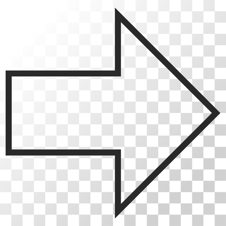 redirect: Arrow Right vector icon. Image style is a flat gray color pictogram symbol.