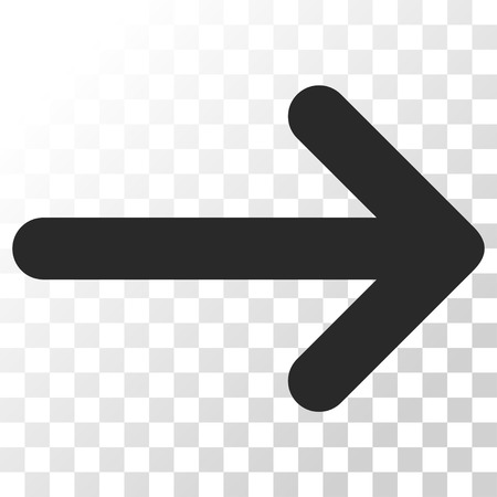 Arrow Right vector icon. Image style is a flat gray color pictograph symbol.
