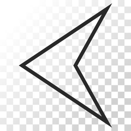arrowhead: Arrowhead Left vector icon. Image style is a flat gray color iconic symbol. Illustration