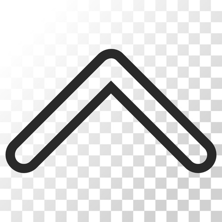 arrowhead: Arrowhead Up vector icon. Image style is a flat gray color pictograph symbol.