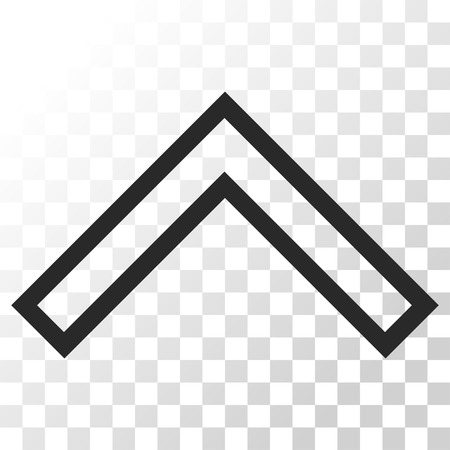 arrowhead: Arrowhead Up vector icon. Image style is a flat gray color iconic symbol.
