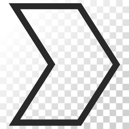 arrowhead: Arrowhead Right vector icon. Image style is a flat gray color pictogram symbol.