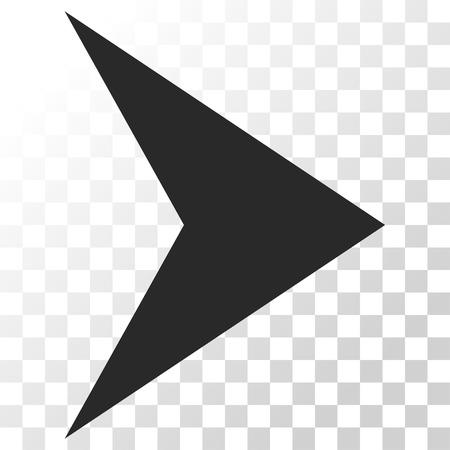 arrowhead: Arrowhead Right vector icon. Image style is a flat gray color icon symbol. Illustration