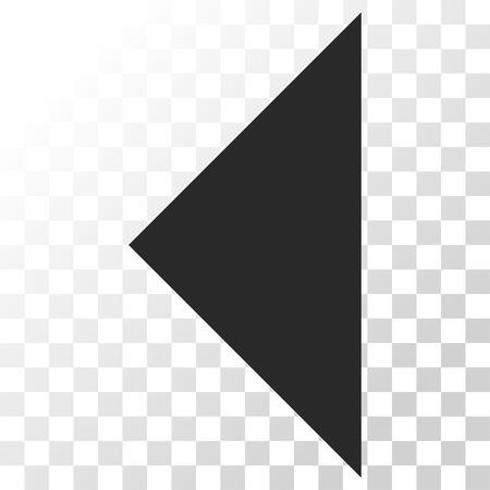 arrowhead: Arrowhead Left vector icon. Image style is a flat gray color icon symbol.