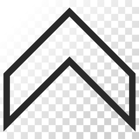 arrowhead: Arrowhead Up vector icon. Image style is a flat gray color icon symbol. Illustration