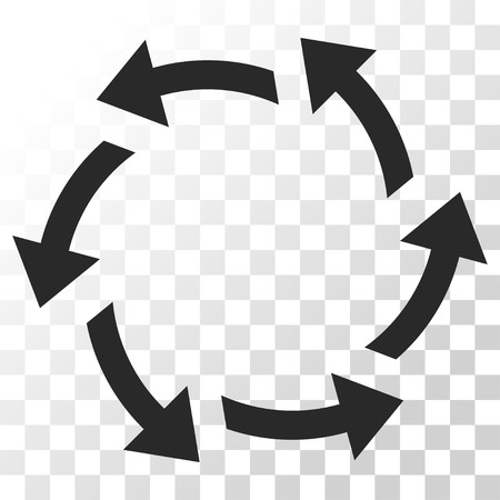 Centrifugal Arrows vector icon. Image style is a flat gray color pictogram symbol.