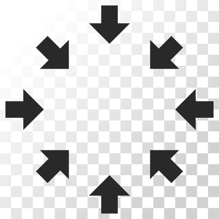 shrink: Compact Arrows vector icon. Image style is a flat gray color icon symbol.