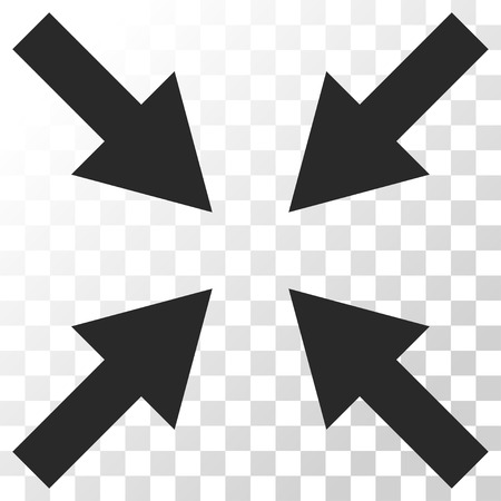 Compress Arrows vector icon. Image style is a flat gray color pictograph symbol. Illustration