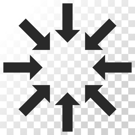 concentrate: Collapse Arrows vector icon. Image style is a flat gray color icon symbol. Illustration