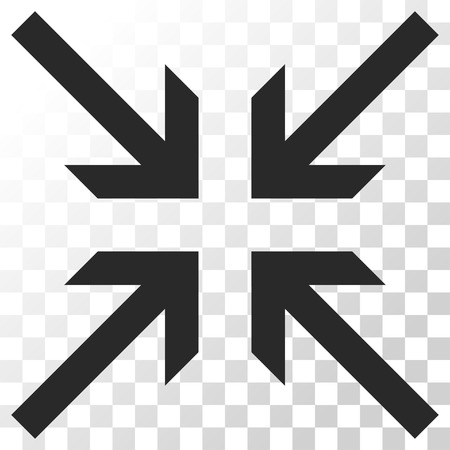 collide: Collide Arrows vector icon. Image style is a flat gray color icon symbol. Illustration