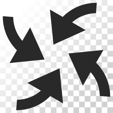 shrink: Cyclone Arrows vector icon. Image style is a flat gray color pictogram symbol.
