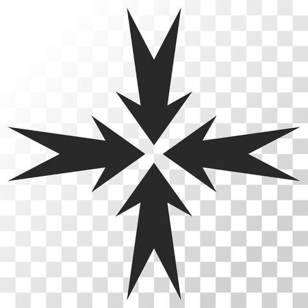 Compression Arrows vector icon. Image style is a flat gray color pictogram symbol.