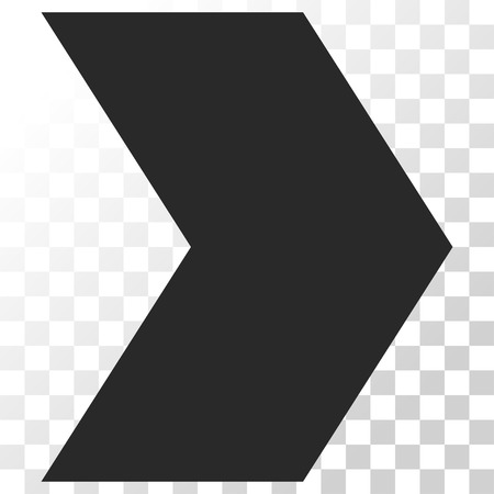redirect: Direction Right vector icon. Image style is a flat gray color pictograph symbol. Illustration