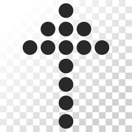 penetrating: Dotted Arrow Up vector icon. Image style is a flat gray color pictogram symbol.