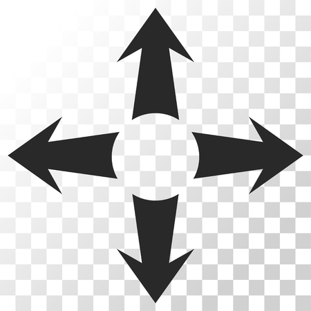Expand Arrows vector icon. Image style is a flat gray color pictogram symbol.