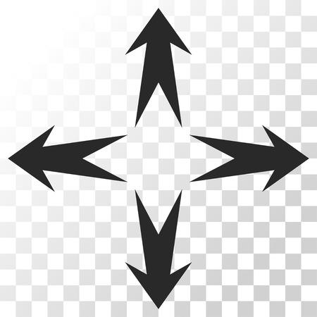 expand: Expand Arrows vector icon. Image style is a flat gray color icon symbol.