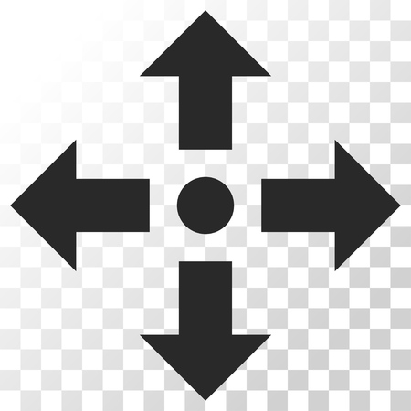expand: Expand Arrows vector icon. Image style is a flat gray color pictogram symbol.