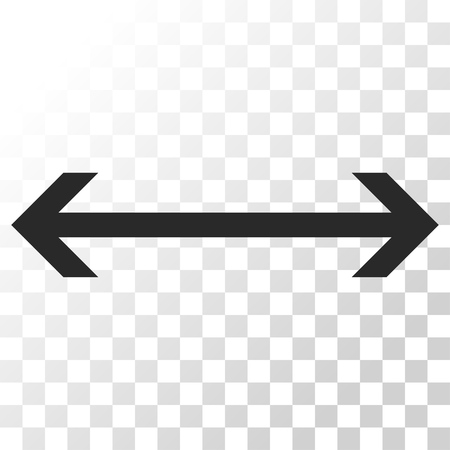 inverse: Horizontal Flip vector icon. Image style is a flat gray color pictogram symbol. Illustration