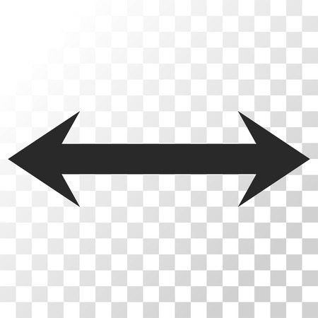 inverse: Horizontal Flip vector icon. Image style is a flat gray color icon symbol.
