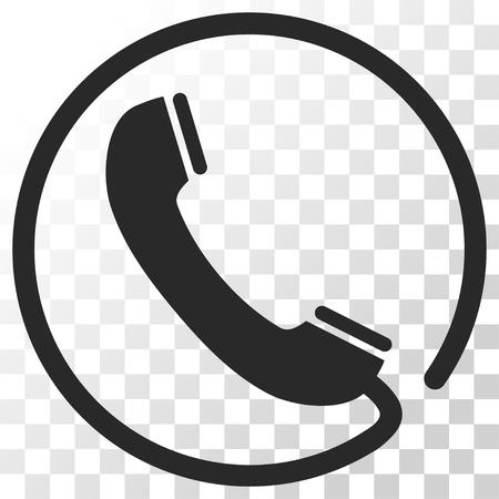 電話のベクター アイコン。画像のスタイルは、フラット グレー色ピクトグラム シンボルです。  イラスト・ベクター素材