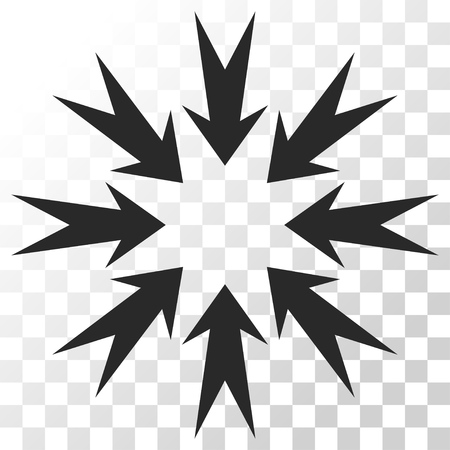 concentrate: Pressure Arrows vector icon. Image style is a flat gray color pictogram symbol.
