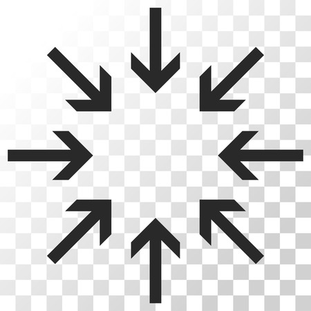 collide: Pressure Arrows vector icon. Image style is a flat gray color pictograph symbol.