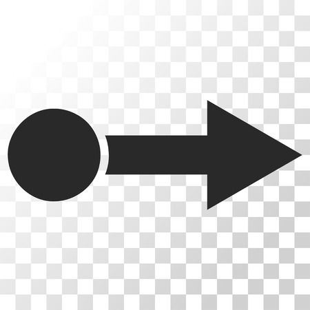 go forward: Pull Right vector icon. Image style is a flat gray color pictograph symbol. Illustration