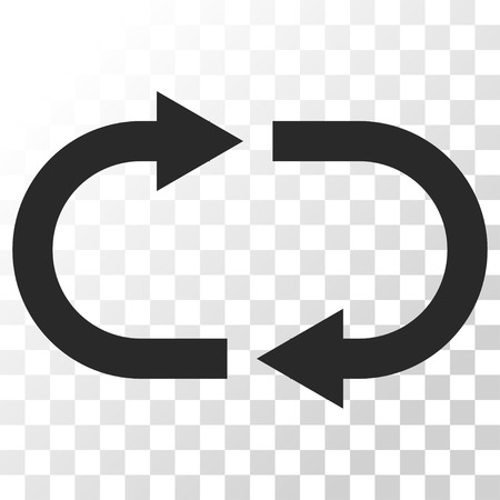 cíclico: Recycle vector icon. Image style is a flat gray color iconic symbol.