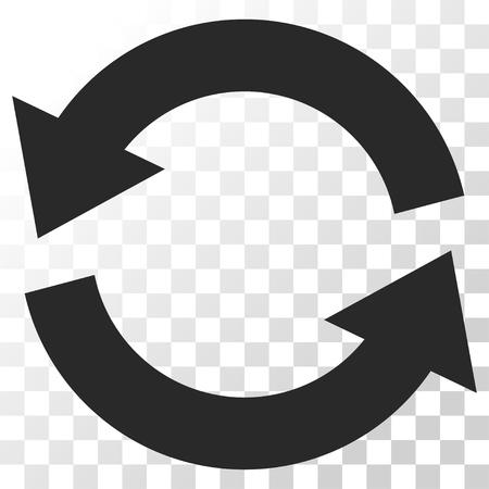 Refresque el icono del vector. El estilo de imagen es un símbolo de icono de color gris plano.