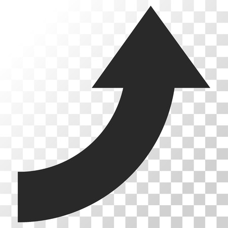 rotate: Rotate Up vector icon. Image style is a flat gray color iconic symbol.