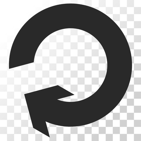 rotate: Rotate vector icon. Image style is a flat gray color pictogram symbol.
